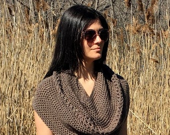 Crochet Cowl PATTERN, Crochet Capelet Pattern, Shawl Pattern, Shrug, Crochet Shoulder Wrap, PDF, Top Pattern, Garment, Infinity Scarf, Easy