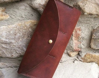 Leather wallet, essentials wallet, smart phone wallet, wristlet wallet