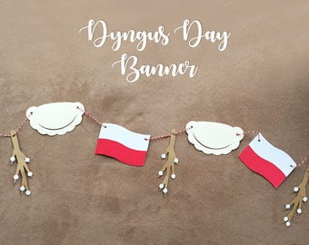 Polish Pierogi Banner / Dyngus Day Decorations / Pirogi Decoration