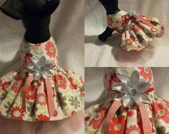 Floral Dog dress, fancy dog dress, girl dog dress
