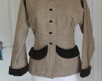 Vintage 1940/50's Ladies Tailored Tweed Jacket