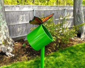 Butterfly Garden Sculpture, Butterfly Metal Sculpture, Large Outdoor Metal Sculpture, Butterfly garden Art, Lawn Decor, Fathers Day Gift