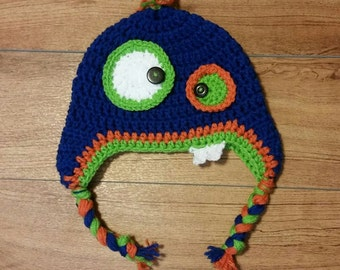 Monster Hat, Crochet Monster Hat, Knit Monster Hat, Child Hat, Birthday Gift, Monsters, Monster Clothes