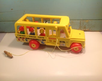 Vintage fisher price school bus