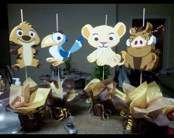 Baby Lion king and friends centerpieces
