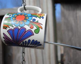 Vintage Mug Bird Feeder - Triple Mug Hanging Suet Feeder