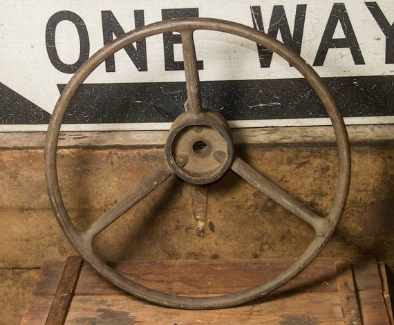 Large Tractor Wheels : Antique steering wheel tractor large farmhouse