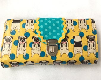 Wallet Deluxe Pug yellow