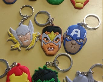 Lot of 10 Party favors Keychains Avengers Super Hero last set Free Shipping