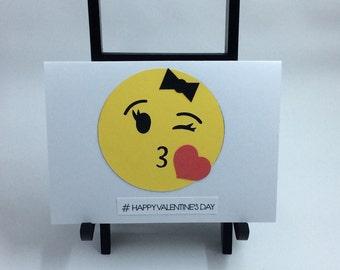 Emoticon Happy Valentine's Day Card Set
