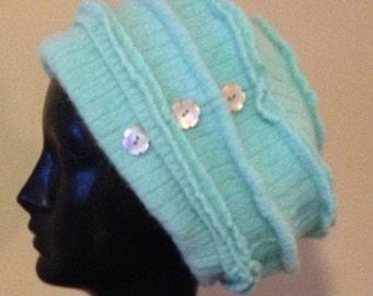 Angora and wool hat