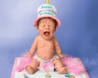 Ashton Drake -  Singing The Birthday Blues Little Baby Doll by Sherry Rawn