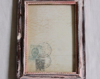 Hand-Painted Wooden Picture Frame