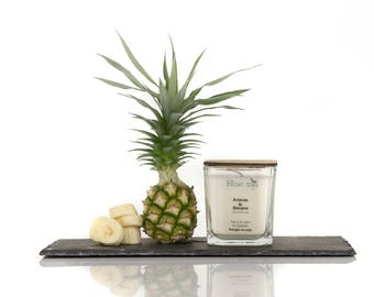 Pineapple and banana, soy candle