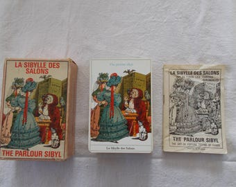 La Sibylle Des Salons, The Parlour Sibyl, Vintage Grimaud Tarot Deck,Complete Grimaud  Boxed Set With Instruction Book in French and English
