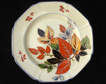 Parrott Art Deco Hand Painted Coronet Ware Entree, Salad or Side Plate  8 inches (Two available)