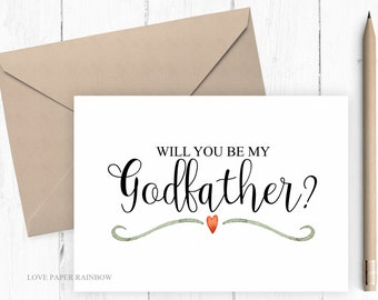 will you be my godfather, will you be my godfather card, ask to be godfather,