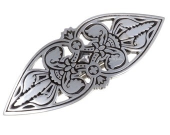 Fleur-de-lys small hairslide -Hand Made and Design in UK