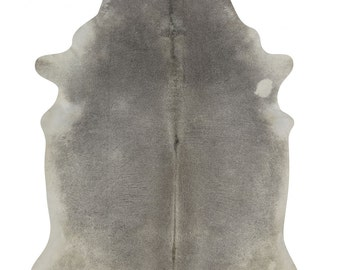 Grey Rodeo Cowhide Rug Extra Large Superior quality Brazil Size apx 6X8