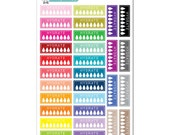 Hydrate Boxes - Fitness Planner Stickers