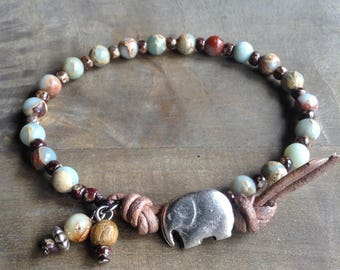Bohemian bracelet beaded bracelet boho chic bracelet hippie bracelet gypsy womens jewelry boho chic jewelry natural bracelet hippie jewelry