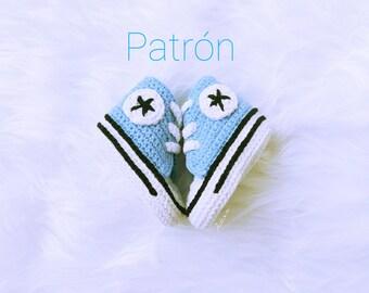 Pattern crochet baby sneakers, Pattern baby sneakers, Pattern crochet, Pattern crochet pdf