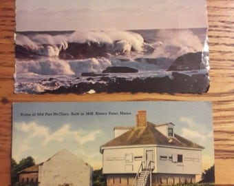 Antique Postcards from Maine, Maine Coast, Kittery Point