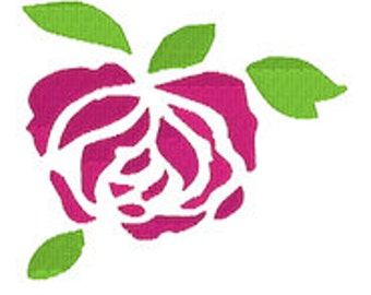 Single Rose Embroidery Download