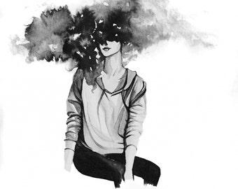 Artprint Head In the Clouds