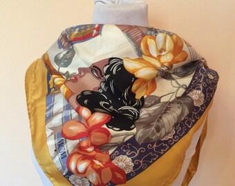 MCM scarf silk scarf