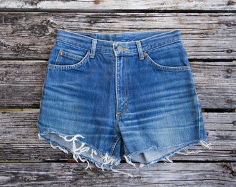Vintage LEE High Rise Cut Off Jean Shorts
