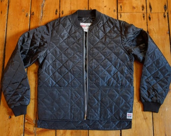 Black Quilted Lightweight Bomber Style Jacket