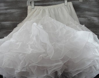 Lady's white crinoline petticoat, square dancing, very full, Royal Petticoats, small medium, possibly little girl's,