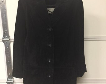 Black Suede Coat from Lord & Taylor, size 8