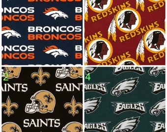 NFL Football CRIB SHEETS / fitted sheet for nursery, crib bedding / Eagles, Dolphins, Lions, Packers, Saints, Ravens, Cowboys, Raiders