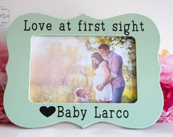 Ultrasound Gift Ultrasound Picture Frame Baby Gift Baby Picture Frame Love at first sight  personalized 4x6 opening