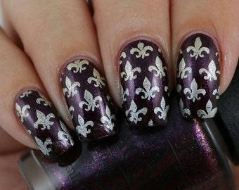 Fleur de Lis Nail Art, Nail Vinyls, Nail Stencils, Nail Decals, Nail Stickers 20 Count