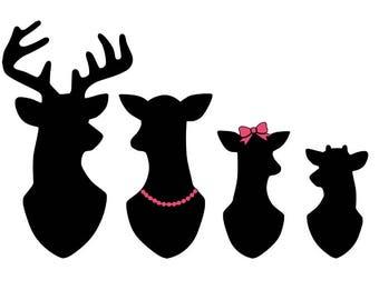 Deer Family Window Decal