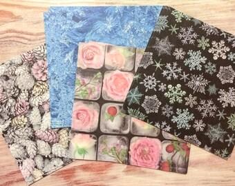Ice Crystal Chiyogami - 48 Sheets