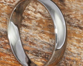 Tungsten Wedding Band - 2mm, 3mm, 4mm, 5mm, 6mm Polished Wedding Ring, Stackable Rings, Tungsten Rings