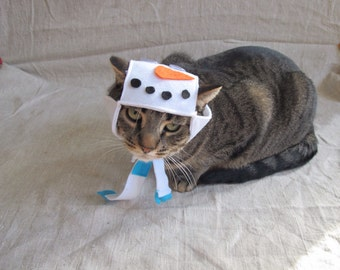 Snowman Costume For Cats