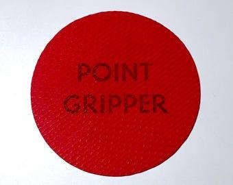 Vintage Red Round Rubber Textured Point Gripper / Needle Gripper / Needle Grip