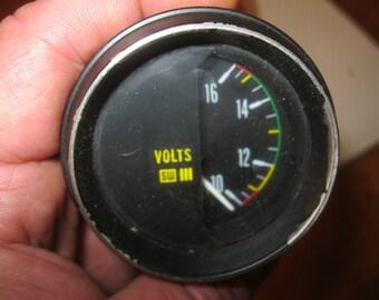 Steampunk Gauge , Volt Meter , Cylinder Volt Meter