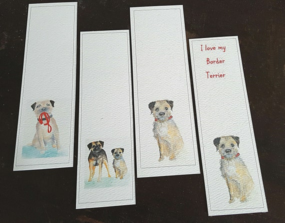Border terrier bookmark bookmark with a border terrier for Unusual dog gifts