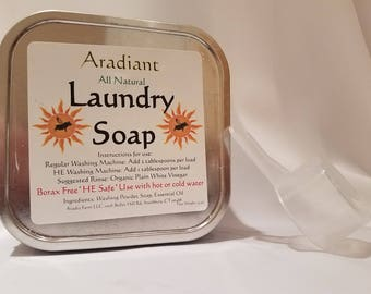 Laundry Soap | Borax Free | HE Washer Safe | All Natural Laundry Soap | Gentle on Clothes | Sensitive Skin Laundry | Laundry Soap for babies