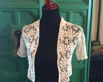 Hand crocheted shrug/sweater