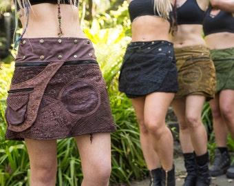 Reversible Pixie Skirt, Free Size, Pocket, Hippy, Fairy, Festival