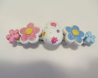 Easter Barrette, Button Barrette, Gifts for her, Gifts for girls, Gifts for women, Gifts for teens, Gifts for Easter, Gifts for kids