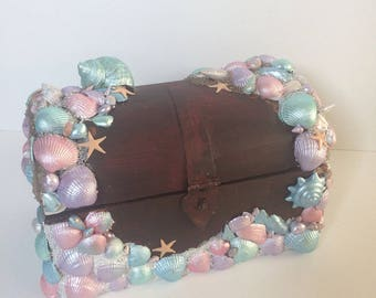 Mermaid Inspired Buried Treasure Chest