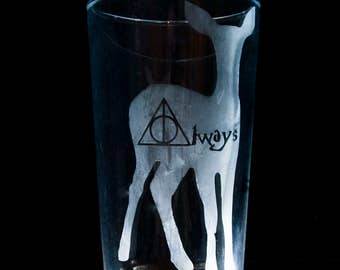 Harry Potter Always Pint glass